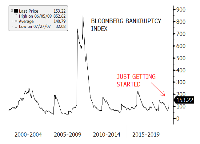 Figure 5. Bloomberg Bankruptcy Index